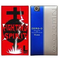リンクルゼロゼロ 1500 12個入 + FIGHTING SPIRIT (ファイティングスピリット) コンドーム Lサイズ 12個入