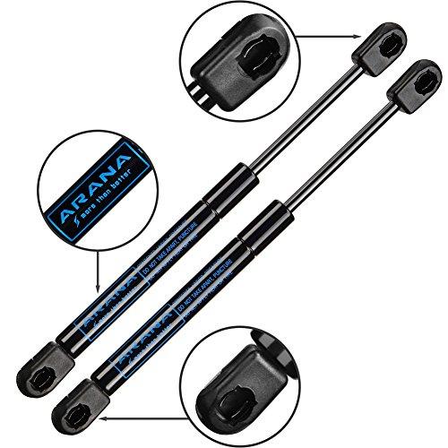 "10 inch Gas Struts Spring Shocks 35 Lb/156 N 10"" Easy-to-Install Lift Support Props for Pickup Truck Cap Tool Box Utility Box Lid, Black 2 Pcs Set ARANA"