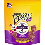 Purina Beggin' Strips Made in USA Facilities Dog Training Treats, Original With Bacon - 40 oz. Pouch