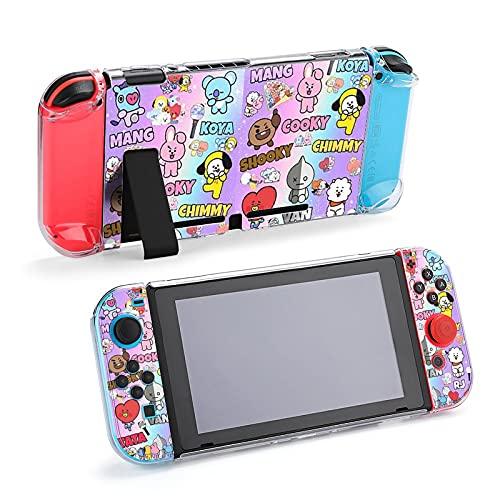 B-T-S Nintendo 任天堂 switch 対応ケース カバー スイッチ カバー ケース ドックセットとJoy-Con兼用 肉球カバー 分体式 全面保護ケース 耐久性 取り外し簡単 衝撃吸収 指紋防止