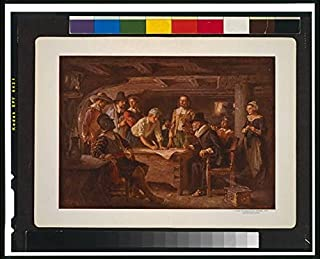 Infinite Photographs Photo: The Mayflower Compact,1620,Carver,Winston,Alden,Myles,Standish,Howland,Bradford