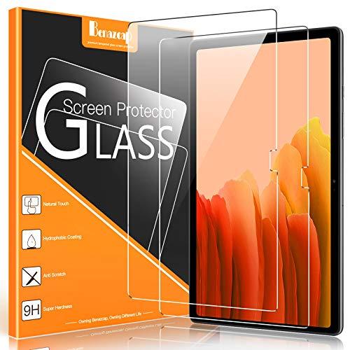 Benazcap [2 Pezzi] Pellicola Protettiva per Samsung Galaxy Tab A7 10,4 Pollici 2020, Installazione Facile/Antigraffio/9H/Frontale Trasparente Vetro Temperato