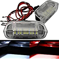 2 módulos LED – Iluminación de Puerta de Entrada – Luz de Pico – Luz de Bienvenida – Blanco Rojo