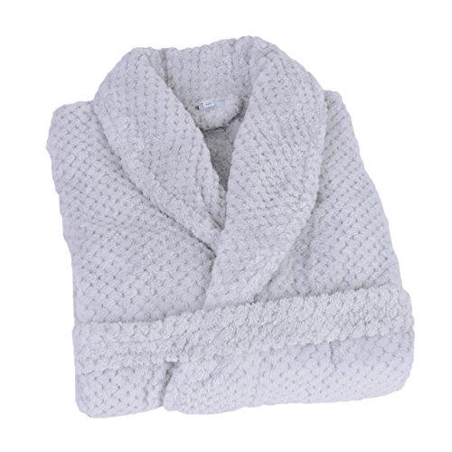 JULES CLARYSSE Bademantel, 100% -Polyester, Gris Claire, M/L