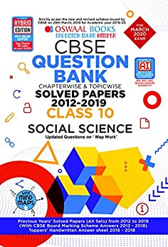 Oswaal CBSE Question Bank Class 10 Social Science Chapterwise & Topicwise (For March 2020 Exam) by [Oswaal Editorial Board]