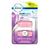 Febreze Air Freshener, Small Spaces Air Freshener, Spring and Renewal Scent Refills Air Freshener (2 Count, 11ml)