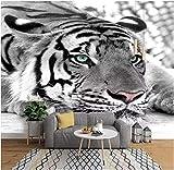 Posters Para Pared Animal Tigre Blanco 250X175Cm Fotomural Para Paredes Mural Vinilo Decorativo Decoración Comedores, Salones,Habitaciones