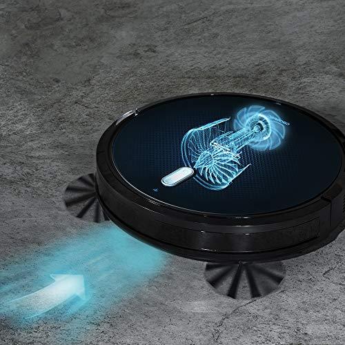 Cecotec Robot Aspirador Conga Serie 1090 Connected. 1400 Pa, Compatible con Alexa y Google Home, Aspira, Barre, Friega y Pasa la Mopa, Cepillo Especial Mascotas, Muro Magnético