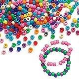 Baker Ross Pack économique de Perles colorées (Lot de 600) - Matériel créatif pour Enfants et Adultes EC1588