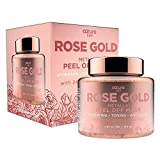 AZURE Rose Gold Metallic Sparkling Peel Off Moisturizing Face Mask - Reduces Wrinkles, Fine Lines & Acne Scars   Removes Blackheads & Dirt and Oil   Repairs Uneven Skin Tone - 150mL