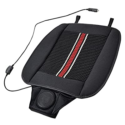 CoolFlow Massage - Cooling Car Seat Cushion with Built-in Fan