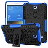 DETUOSI for Samsung Tab 4 7 inch Case, [Shock-Absorption] High Impact Resistant Heavy Duty Armor Defender Cover with Kickstand Feature for Samsung Galaxy Tab 4 7.0' 2014 (SM-T230/T231/T235) #Dark blue