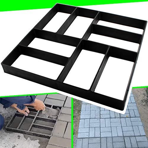 CJGQ Concrete Molds Reusable Walk Maker Paver Path Maker, Yard Patio Lawn Garden DIY Walkway Pavement Brick Moulds15.7'x15.7'x1.57' (8-Grid)