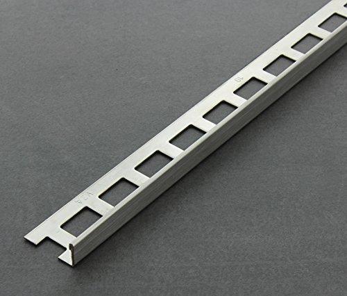 Fliesenschiene, Fliesenprofil, Winkelprofil, Edelstahl (V2A) gebürstet, Länge 2,50 m 8mm 1 Stück