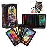 LHKJ Tarot Cards, 78 Tarjetas Juego de Cartas con Caja para Principiantes (Negro)