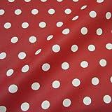 Werthers Stoffe Stoff Meterware wasserdicht Punkte rot