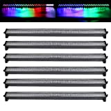 Tengchang 6 PCS DMX Stage Light Bar 252 LED Wall Wash Lighting Color Mixing DJ Party