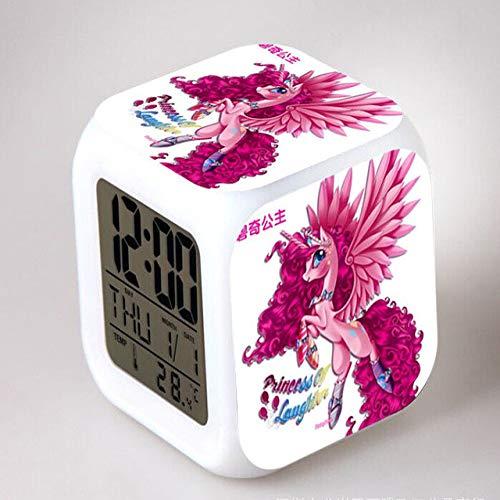 shiyueNB My Little Pony Night Light LED 7 kleuren Flash wekker Digital slaapkamer klok regenboog dash-reloj despertador