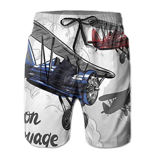 surce mannen zwemmen Trunks strand Shorts Retro vliegtuig Poster Geïnspireerd Bon Voyage laat reizen vliegen