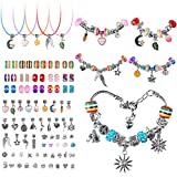 Charm Bracelets for Jewelry Making,Silver Charms for Bracelet Chains & Necklaces, 95 Pieces DIY Craft Charm Bracelet Making Kit, Birthday Gifts for 8-13 Year Old Girl Teens