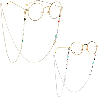 25a612c7c4 ZANPOON Chaîne de Lunettes Femme Lunettes en Chaîne Chaîne pour Lunettes  Perle Lunettes De Soleil Sangle