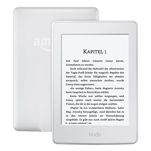 Kindle Paperwhite (Vorgängermodell – 7. Generation) 6 Zoll (15 cm) großes Display, integrierte Beleuchtung, WLAN, Weiß – mit Spezialangeboten