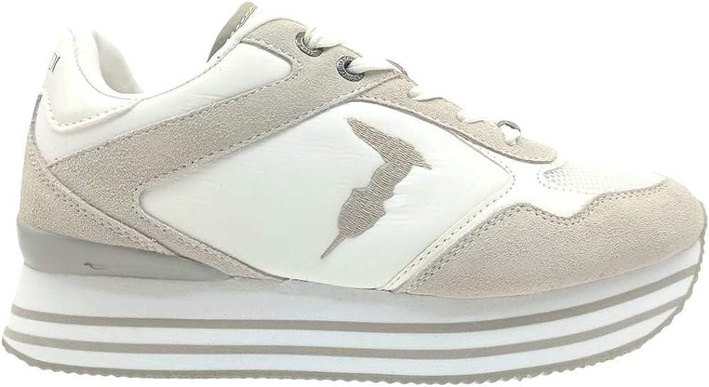 Trussardi jeans, scarpe da ginnastica,sneakers per donna,in ecopelle e camoscio 79A00677-9Y099998