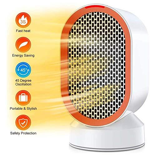 WeWana Mobiler 2000W Heizlüfter Ventilator mit Oszillationsfunktion, Raumheizkör per 2 Modi Warm & Natürlich Heizkörper, Schutz vor Überhitz & Umkipp Geeignet für Büro