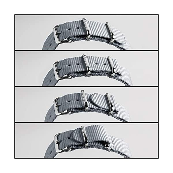 Archer Watch Straps – Classic Nylon NATO Straps | Choice of Color and Size (18mm, 20mm, 22mm, 24mm)