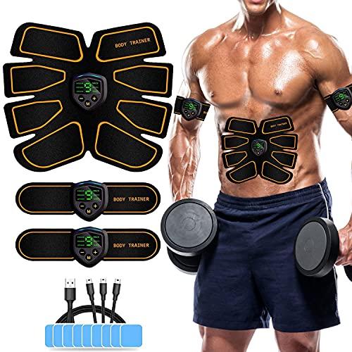 MATEHOM Elettrostimolatore Muscolare, EMS Suscolo Addominale,Ricarica USB ABS Trainer Toner per Addome Braccio Vita Gambe