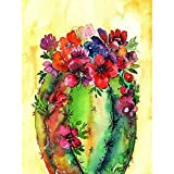 ZHONGYU 5D Diamond Painting Full Drill Art Plant Abstract Painting DIY Rhinestone Embroidery Set Paint with by Number Home Wall Craft Decoration(40 * 50CM)