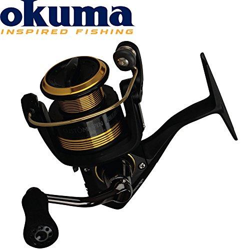 Okuma Custom Spin CSP-55 - Stationärrolle zum Spinnfischen auf Hecht & Wels, Angelrolle zum Spinnangeln, Rolle zum Hechtangeln