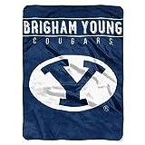 The Northwest Company BYU Cougars 'Basic' Raschel Throw Blanket, 60' x 80' , Blue
