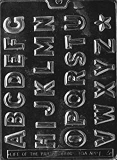 Cybrtrayd L003 Alphabet A to Z Chocolate Candy Mold with Exclusive Cybrtrayd Copyrighted Chocolate Molding Instructions