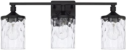 popular HomePlace discount 128831MB-451 Colton Vanity, 3-Light 300 Total high quality Watts, Matte Black online sale