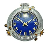 Pendulux, Quartermaster Wall Clock, Home Decoration, Blue, 9 H x 9 W x 2.5 D inches, 4.1 lbs.