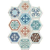 壁紙シール 10枚/セット粘着フロアステッカー台所 (Size:20 * 23 C M; Color:#11)