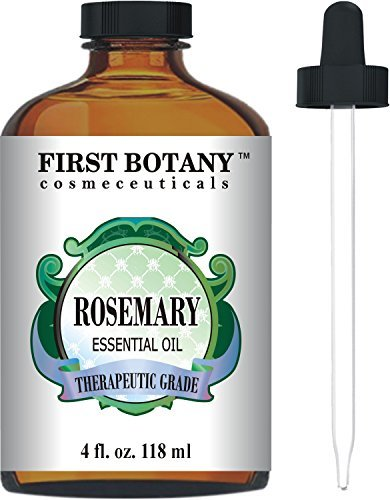 Rosemary Essential Oil Big 4 fl. oz.Premium & Therapeutic Grade - Great for Hair Strengthening & Growth, Dandruff as Well Pain Relief for Men and Women
