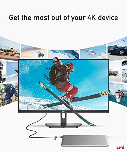 uni USB C zu DisplayPort-Kabel (4K@60Hz, 2K@144Hz), Thunderbolt 3 zu DisplayPort-Kabel, Kompatibel für MacBook Pro 2019/2018/2017, MacBook Air, iPad Pro 2020/2018, Surface Book usw. 6ft/1,8m - 9