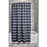 iDesign Ducha a Rayas, Preciosa Cortina de baño x 183,0 cm de algodón, Azul...