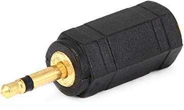 Monoprice 107121 2.5mm Mono Plug to 3.5mm Mono Jack Adaptor, Gold Plated
