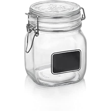 White Omada M4230BI Movida Cookie Jar with Sealed Cover