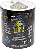 The Original Fix Tape (As Seen On TV), Rubberized Waterproof Adhesive Seal Tape, Patch and Repair Cracks, Pipes, Roof, Boat Leaks (Black, 8 inches x 5 feet)