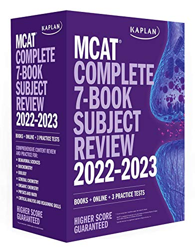MCAT Complete 7-Book Subject Review 2022–2023: Books + Online + 3 Practice Tests (Kaplan Test Prep