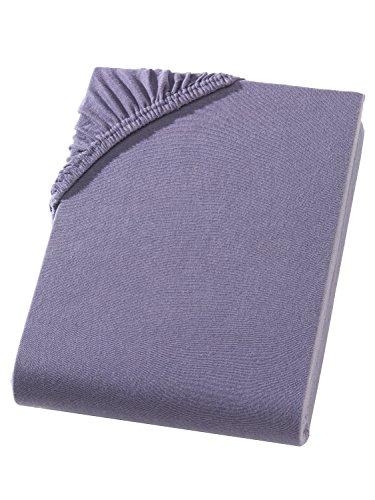 Arle-Living Split Topper resårlakan/spännlakan – jersey – 180 x 200 – 200 x 200 cm – 10 cm hålhöjd – 160 g/m² – resårsäng – allround gummi (antracit)