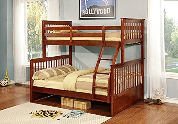 InRoom Designs Twin Over Full Bunk Bed With Built In Ladder