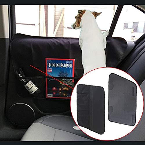 Qiuge Autotüren Innenposition Haustiere Kratzfeste Pads Oxford Tuch Auto Tür Schutzkissen Aufbewahrungstasche