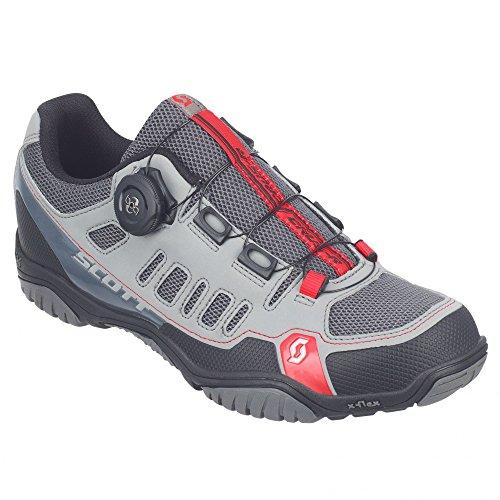 Scott Women's MTB-radschuh Crus-r Boa Lady Mountain Biking Shoes, Grey (Grau/Rot 1049), 4.5 UK