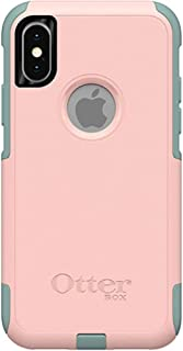 OtterBox Commuter Series Case for iPhone Xs & iPhone X - Bulk Packaging - Ballet Way (Pink Salt/Aquifer)