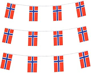 Best Norway Flags Norwegian Small String Mini Flag Pennant Banner Decorations Review